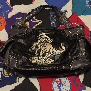 Montana West women's leather studded purse